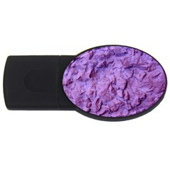 Purple Wall Background USB Flash Drive Oval (4 GB)