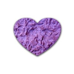 Purple Wall Background Heart Coaster (4 pack)