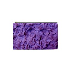 Purple Wall Background Cosmetic Bag (Small)