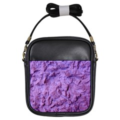 Purple Wall Background Girls Sling Bags
