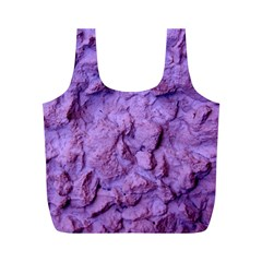 Purple Wall Background Full Print Recycle Bags (M)