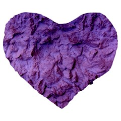 Purple Wall Background Large 19  Premium Flano Heart Shape Cushions