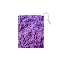 Purple Wall Background Drawstring Pouches (XS)