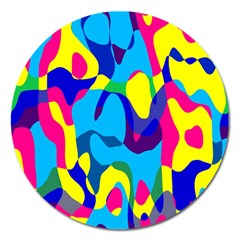 Colorful chaosMagnet 5  (Round)