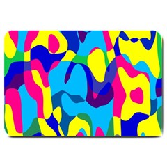 Colorful chaosLarge Doormat