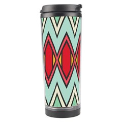 Rhombus and chevrons pattern Travel Tumbler