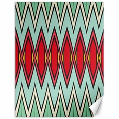 Rhombus and chevrons pattern			Canvas 12  x 16