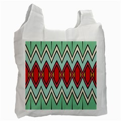 Rhombus and chevrons pattern			Recycle Bag (One Side)