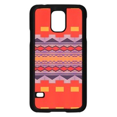 Rhombus Rectangles And Triangles			samsung Galaxy S5 Case (black)