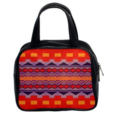 Rhombus rectangles and triangles Classic Handbag (Two Sides)
