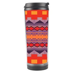 Rhombus Rectangles And Triangles Travel Tumbler