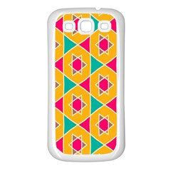 Colorful stars patternSamsung Galaxy S3 Back Case (White)