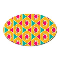Colorful stars pattern			Magnet (Oval)