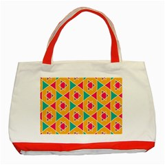 Colorful stars patternClassic Tote Bag (Red)