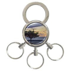 Sunset Scene at Boardwalk in Montevideo Uruguay 3-Ring Key Chains