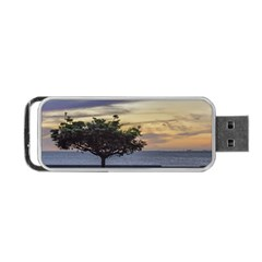 Sunset Scene at Boardwalk in Montevideo Uruguay Portable USB Flash (Two Sides)