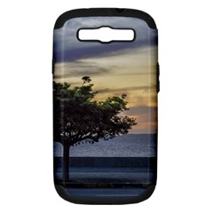 Sunset Scene at Boardwalk in Montevideo Uruguay Samsung Galaxy S III Hardshell Case (PC+Silicone)