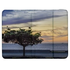 Sunset Scene at Boardwalk in Montevideo Uruguay Samsung Galaxy Tab 7  P1000 Flip Case