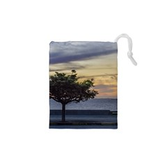 Sunset Scene at Boardwalk in Montevideo Uruguay Drawstring Pouches (XS)
