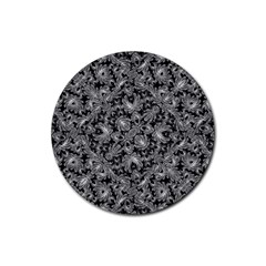Luxury Patterned Modern Baroque Rubber Round Coaster (4 pack)