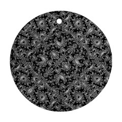 Luxury Patterned Modern Baroque Round Ornament (Two Sides)