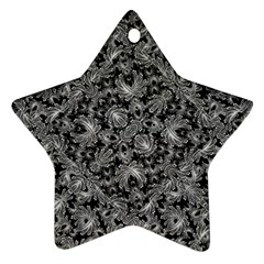 Luxury Patterned Modern Baroque Star Ornament (Two Sides)