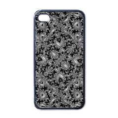 Luxury Patterned Modern Baroque Apple iPhone 4 Case (Black)