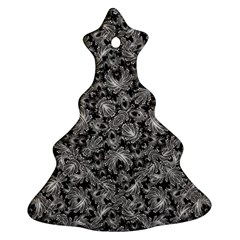 Luxury Patterned Modern Baroque Christmas Tree Ornament (2 Sides)
