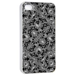 Luxury Patterned Modern Baroque Apple iPhone 4/4s Seamless Case (White)