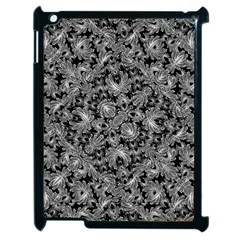 Luxury Patterned Modern Baroque Apple iPad 2 Case (Black)