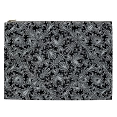 Luxury Patterned Modern Baroque Cosmetic Bag (XXL)