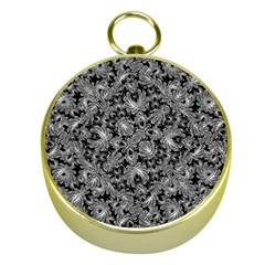 Luxury Patterned Modern Baroque Gold Compasses