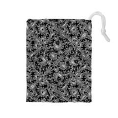 Luxury Patterned Modern Baroque Drawstring Pouches (Large)