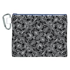 Luxury Patterned Modern Baroque Canvas Cosmetic Bag (XXL)