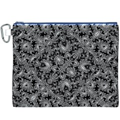 Luxury Patterned Modern Baroque Canvas Cosmetic Bag (XXXL)