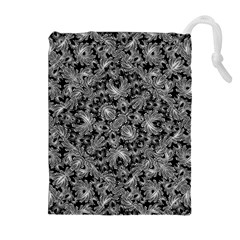 Luxury Patterned Modern Baroque Drawstring Pouches (Extra Large)