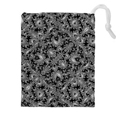Luxury Patterned Modern Baroque Drawstring Pouches (xxl)