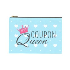 Coupon Queen Cosmetic Bag (large)