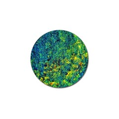 Flowers Abstract Yellow Green Golf Ball Marker (10 pack)