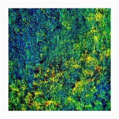 Flowers Abstract Yellow Green Medium Glasses Cloth (2-Side)