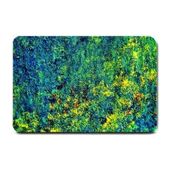 Flowers Abstract Yellow Green Small Doormat