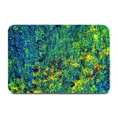 Flowers Abstract Yellow Green Plate Mats