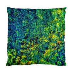 Flowers Abstract Yellow Green Standard Cushion Cases (Two Sides)