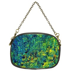 Flowers Abstract Yellow Green Chain Purses (Two Sides)