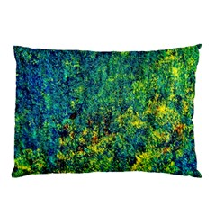 Flowers Abstract Yellow Green Pillow Cases