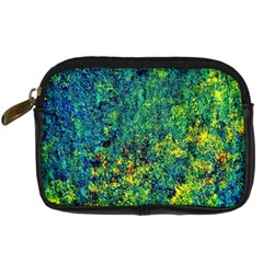 Flowers Abstract Yellow Green Digital Camera Cases