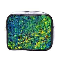 Flowers Abstract Yellow Green Mini Toiletries Bags