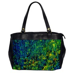 Flowers Abstract Yellow Green Office Handbags