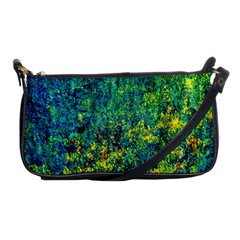 Flowers Abstract Yellow Green Shoulder Clutch Bags