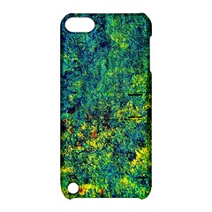 Flowers Abstract Yellow Green Apple iPod Touch 5 Hardshell Case with Stand